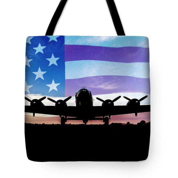American B-17 Flying Fortress Tote Bag