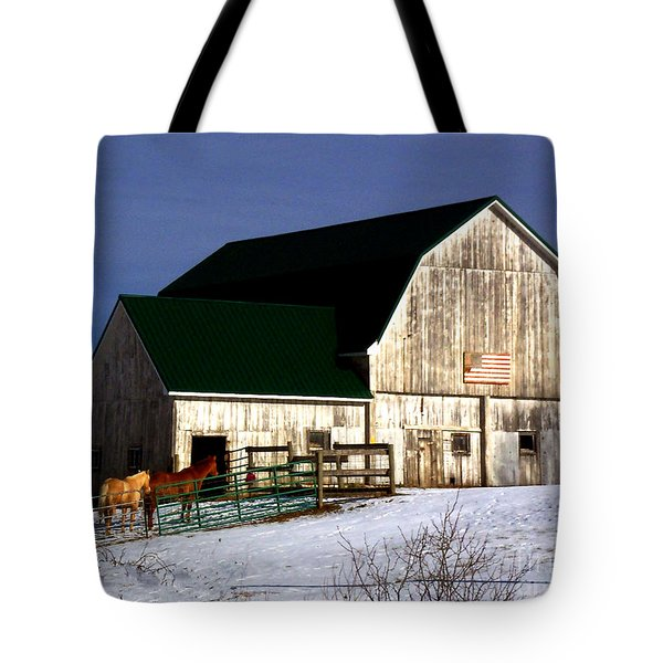 American Barn Tote Bag by Desiree Paquette