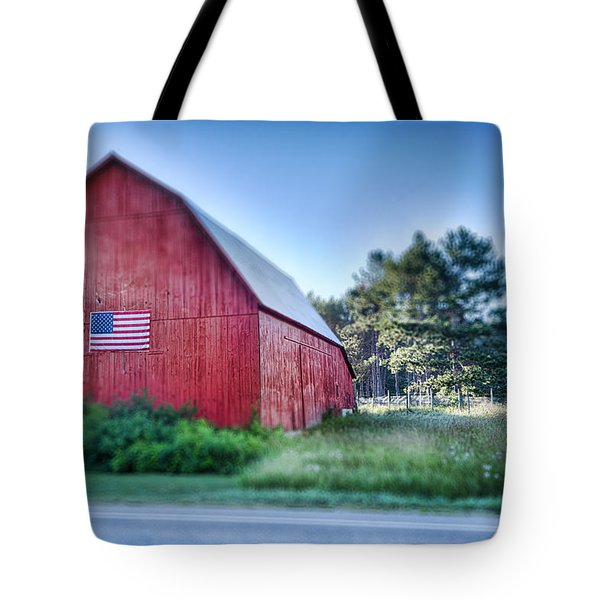 Tote Bag featuring the photograph American Barn by Sebastian Musial