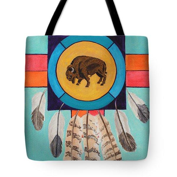 American Bison Dreamcatcher Tote Bag