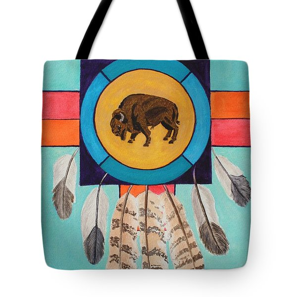 American Bison Dreamcatcher Tote Bag