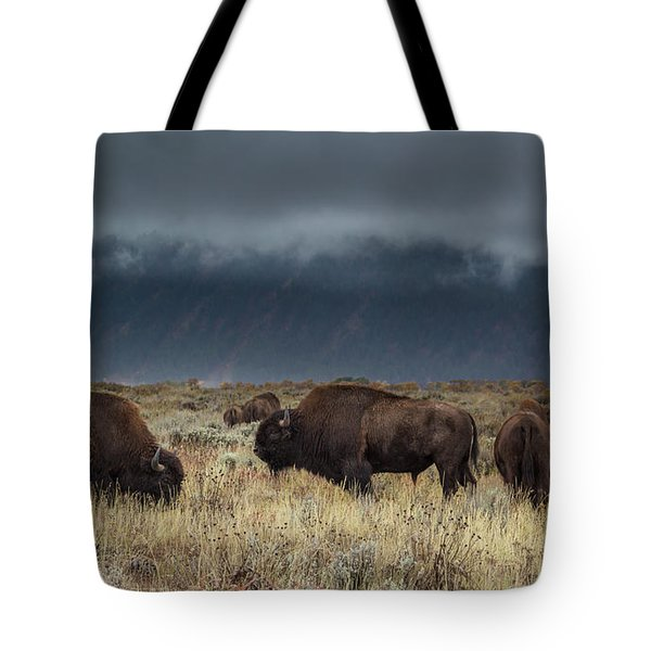 American Bison On The Prairie Tote Bag