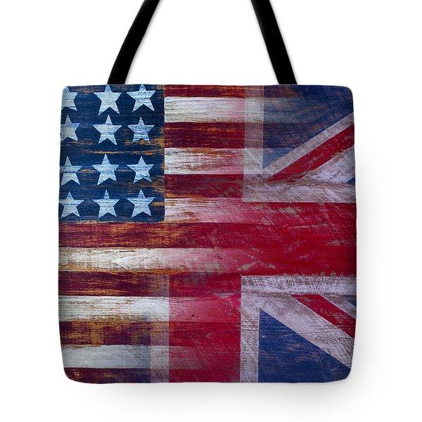 American British Flag Tote Bag