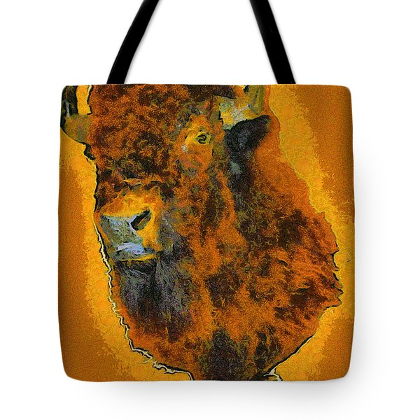 American Buffalo Tote Bag by Barbara Snyder