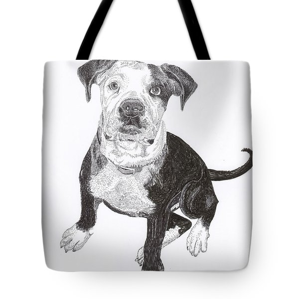 American Bull Dog As A Pup Tote Bag by Jack Pumphrey