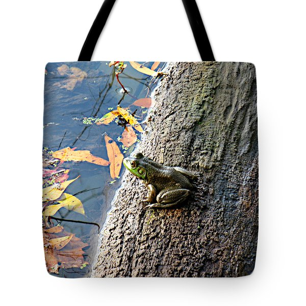 Tote Bag featuring the photograph American Bullfrog by William Tanneberger