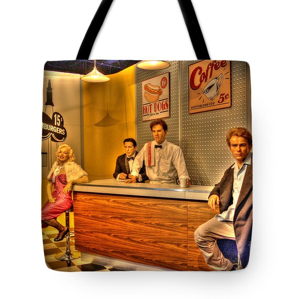 American Cinema Icons - 5 And Diner Tote Bag by Dan Stone
