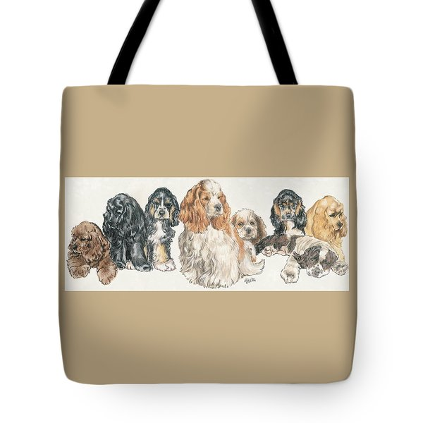American Cocker Spaniel Puppies Tote Bag