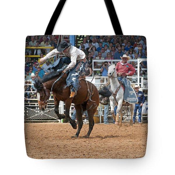 American Cowboy Riding Bucking Rodeo Bronc II Tote Bag