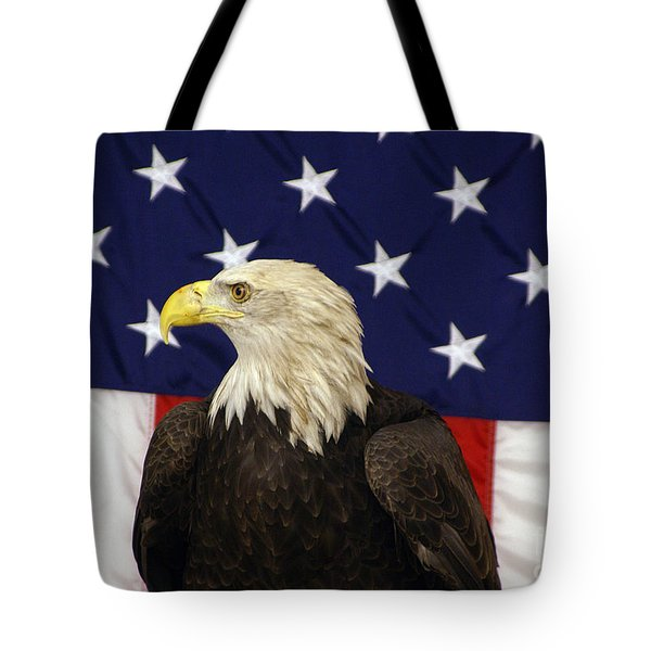 American Eagle And Flag Tote Bag