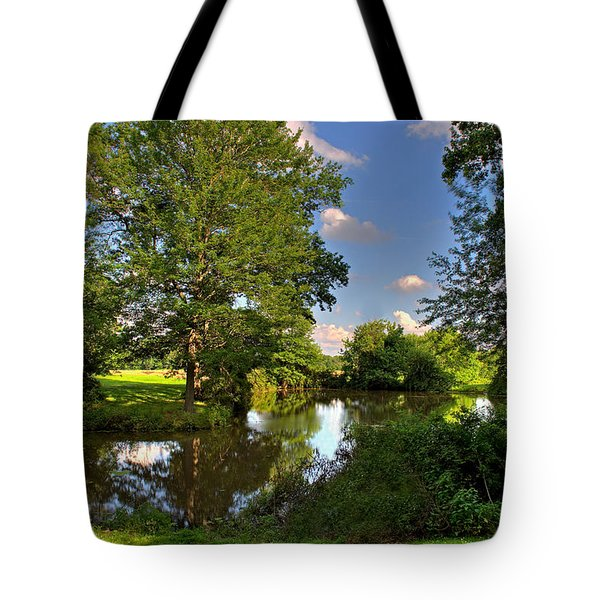 American Farm Pond Tote Bag