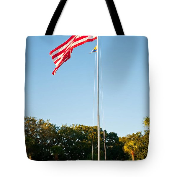 American Flag Tote Bag by Alex Grichenko