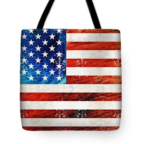 American Flag Art - Old Glory - By Sharon Cummings Tote Bag