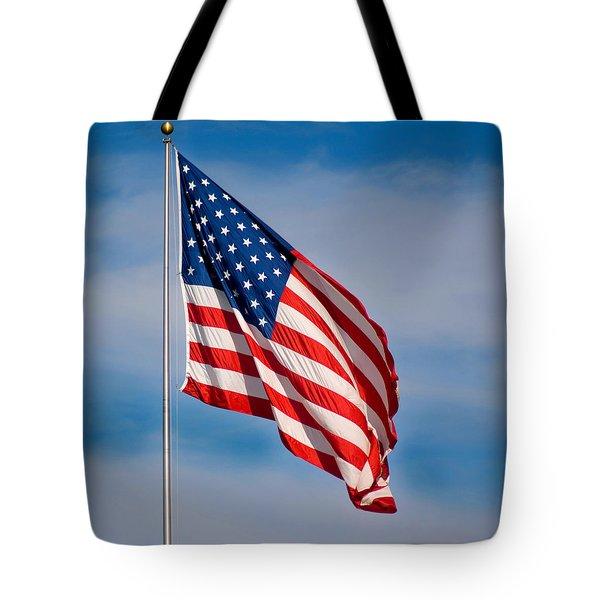 American Flag Tote Bag by Benjamin Reed