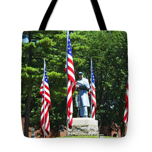 American Flag - Civil War Memorial -  Luther Fine Art Tote Bag by Luther Fine Art