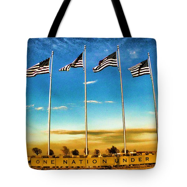 American Flag - Independence Day Tote Bag by Luther Fine Art