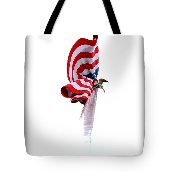 Tote Bag featuring the photograph American Flag by Kenny Glotfelty