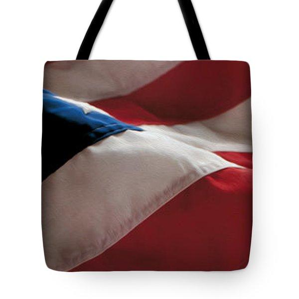 American Flag Painting Tote Bag