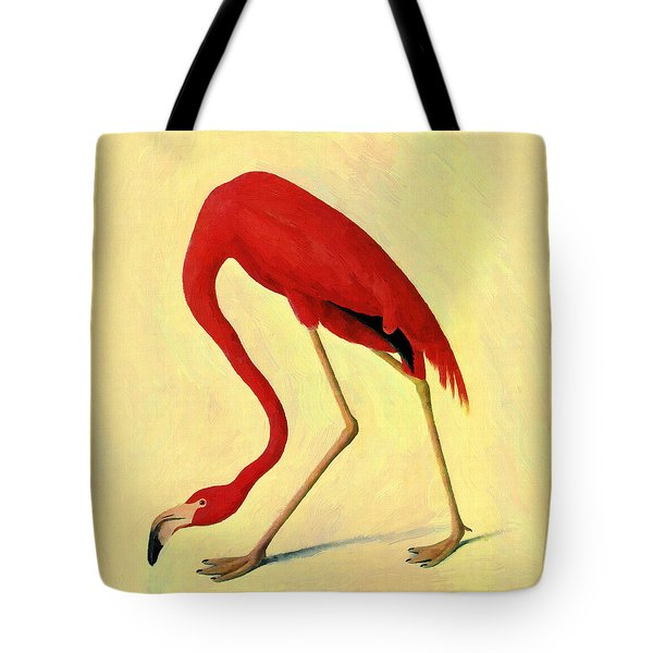 Tote Bag featuring the painting American Flamingo by Audubon