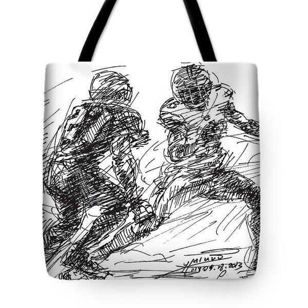 American Football 4 Tote Bag