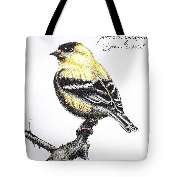 American Goldfinch Tote Bag by Katharina Filus