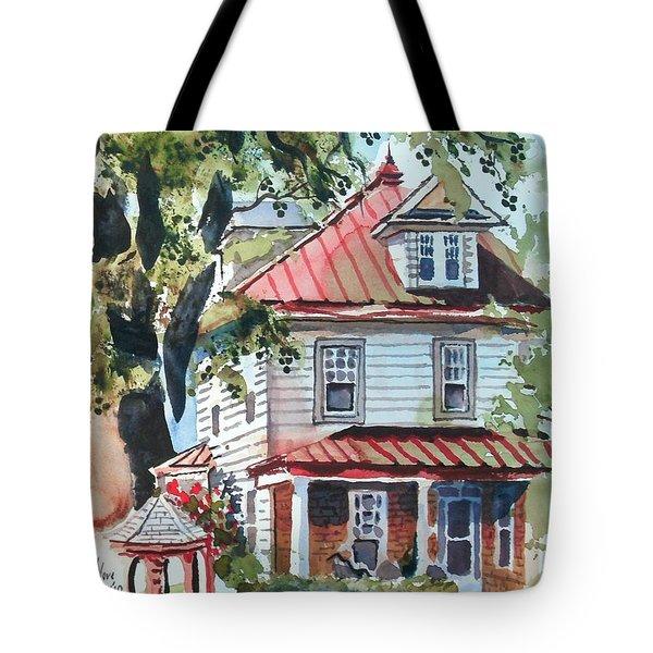 American Home With Children's Gazebo Tote Bag by Kip DeVore