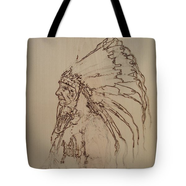 American Horse - Oglala Sioux Chief - 1880 Tote Bag by Sean Connolly