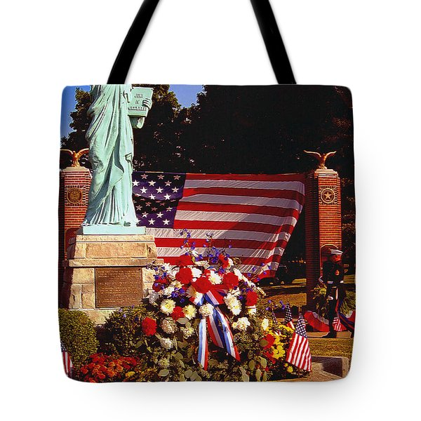 American Iconology Tote Bag by Margaret Harmon