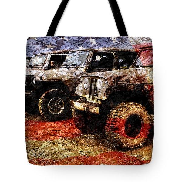 American Jeeps Tote Bag