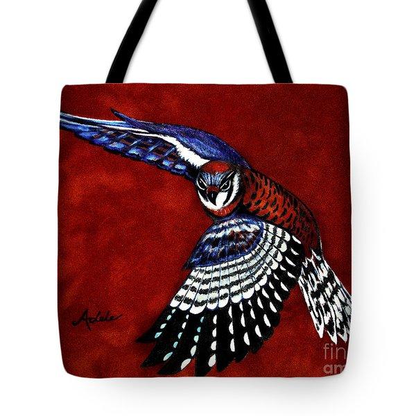 American Kestrel Tote Bag by Adele Moscaritolo