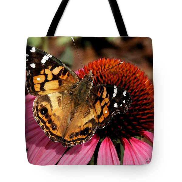 Tote Bag featuring the photograph American Lady  by James C Thomas