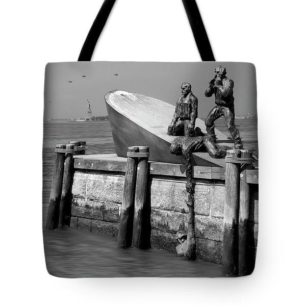 American Merchant Mariners Memorial Tote Bag by Mike McGlothlen