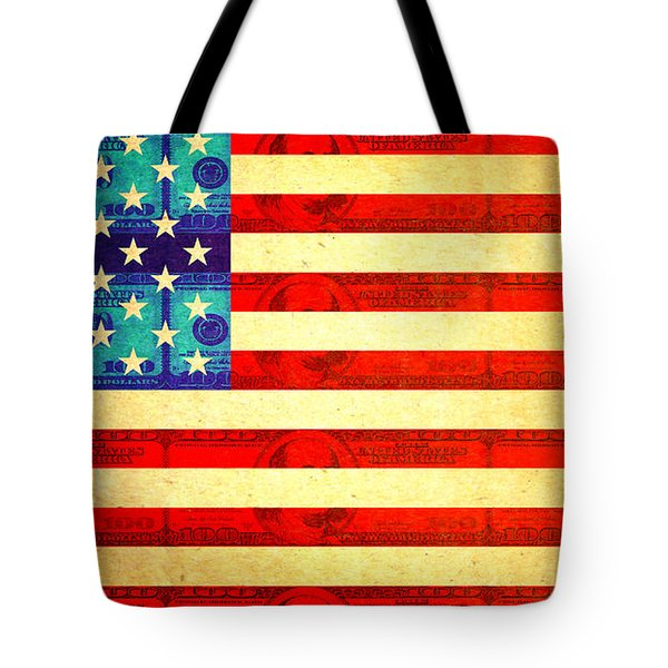 American Money Flag Tote Bag