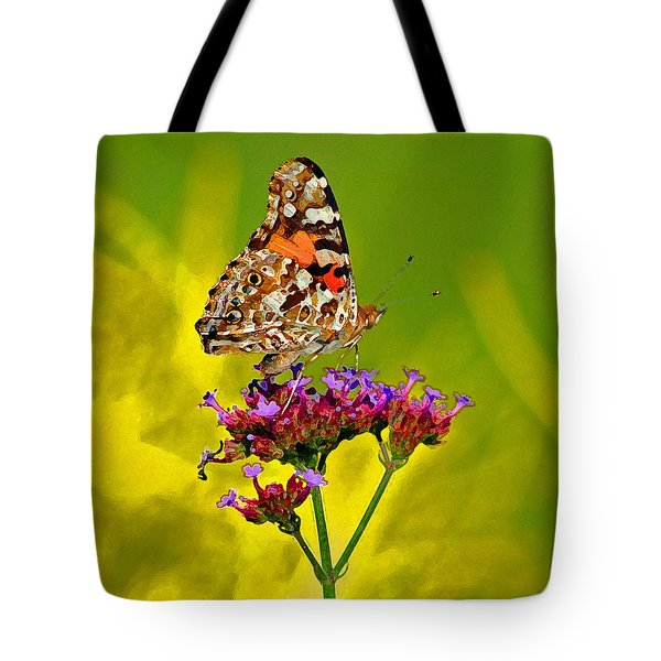 American Painted Lady Butterfly Tote Bag by Karen Adams