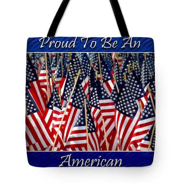 American Pride Tote Bag by Carolyn Marshall