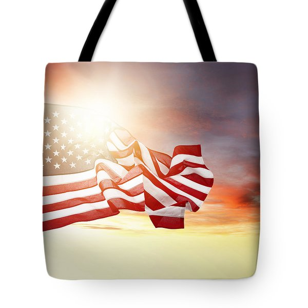 American Pride Tote Bag by Les Cunliffe