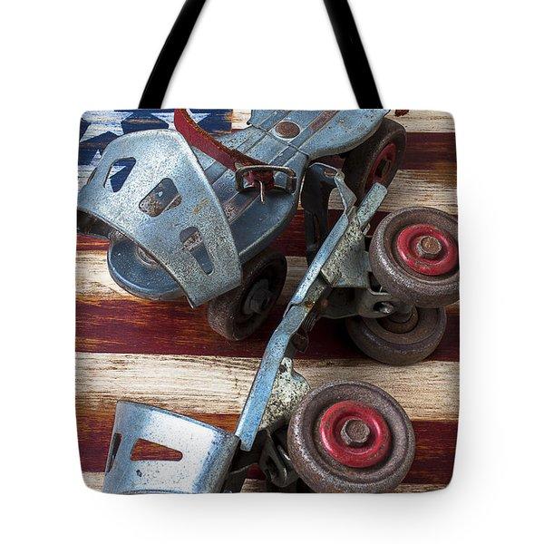 American Roller Skates Tote Bag by Garry Gay