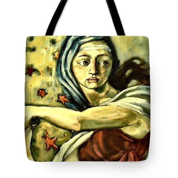 American Sybil Tote Bag by Carrie Joy Byrnes