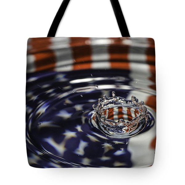 Tote Bag featuring the photograph American Water Crown by Betty Denise