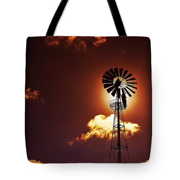 American Windmill Tote Bag by Marco Oliveira
