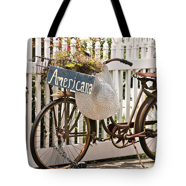 Tote Bag featuring the photograph Americana by Art Block Collections