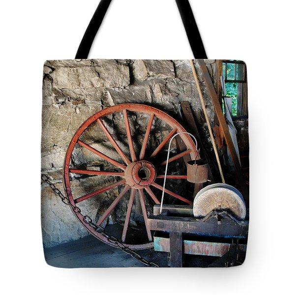 Tote Bag featuring the photograph Americana - Sturbridge Mass by Jacqueline M Lewis