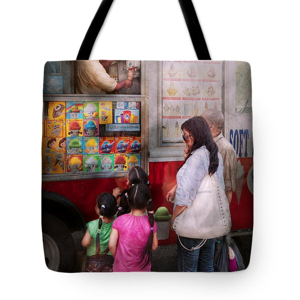 Americana - Vendor - Serving Chocolate Ice Cream Tote Bag by Mike Savad