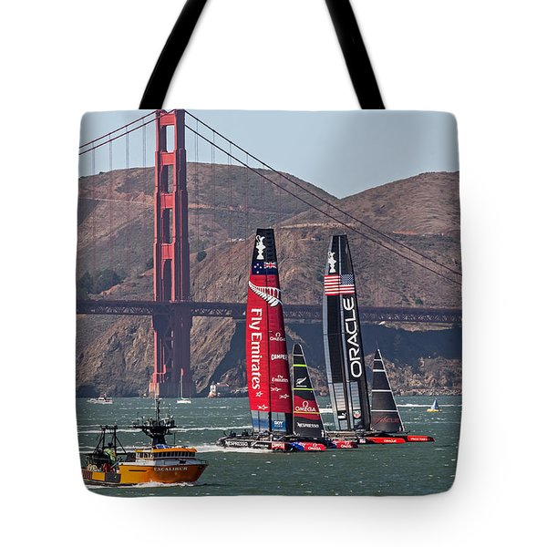 Americas Cup At The Gate Tote Bag