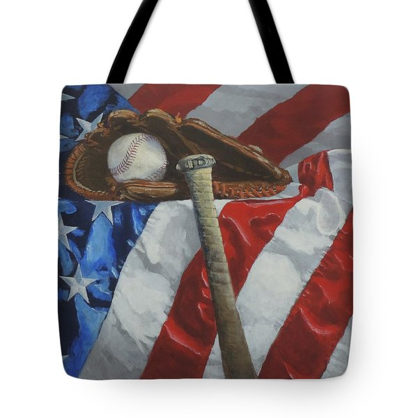 America's Game - Art By Bill Tomsa Tote Bag