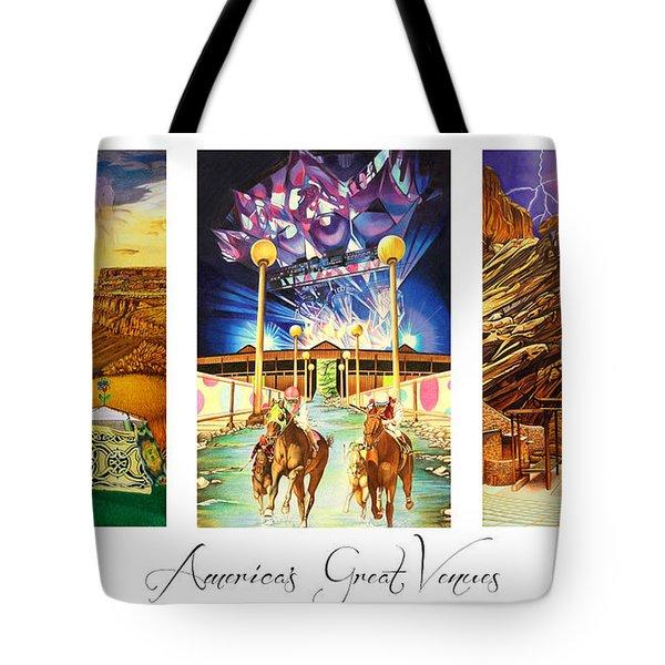America's Great Venues Tote Bag by Joshua Morton