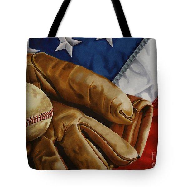 America's Pastime Tote Bag
