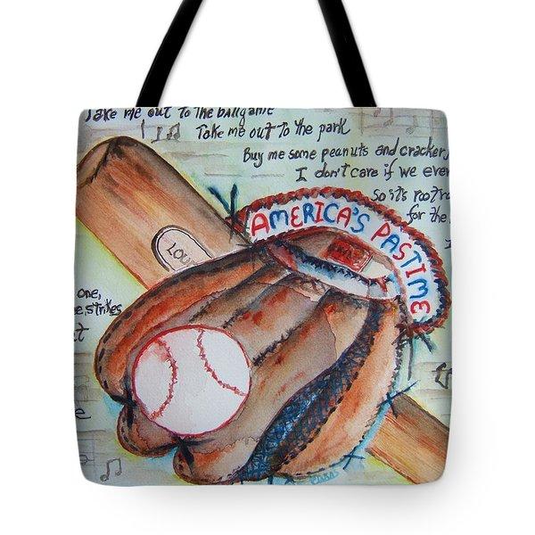 Americas Pastime II Tote Bag
