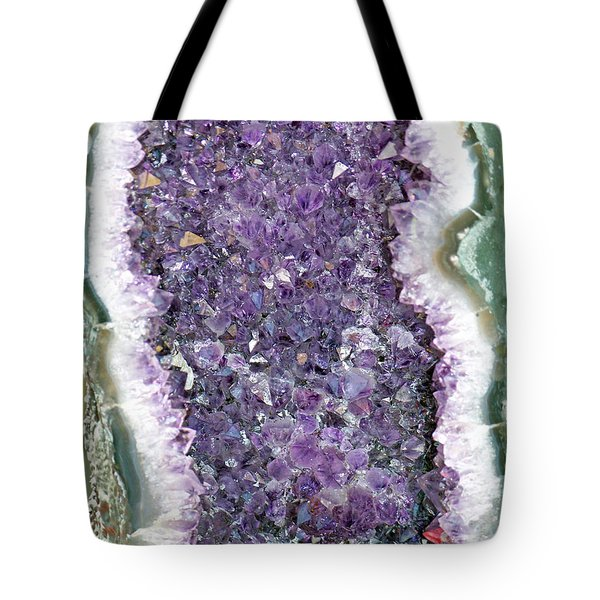 Amethyst Geode Tote Bag by Tikvah's Hope