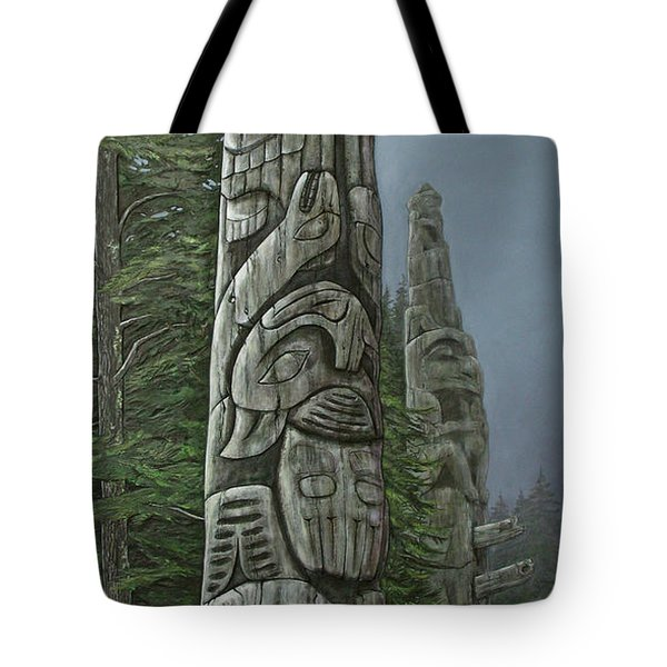 Amid The Mist - Totems Tote Bag by Elaine Booth-Kallweit